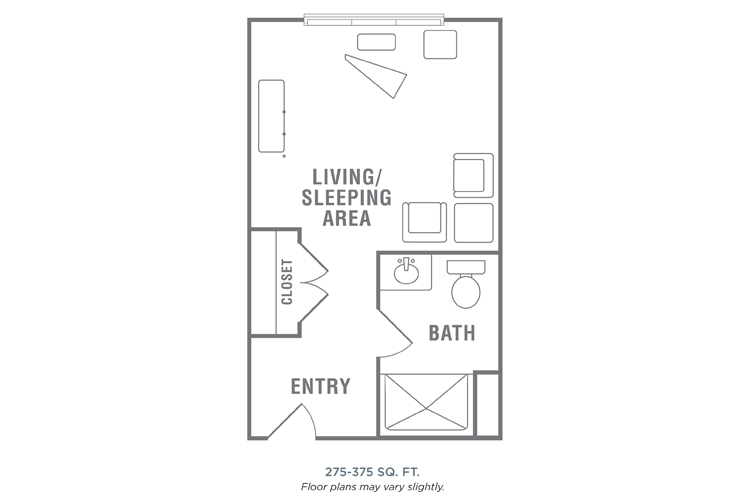 Morningside of Wilmington Assisted Living Studio (1) Floor Plan