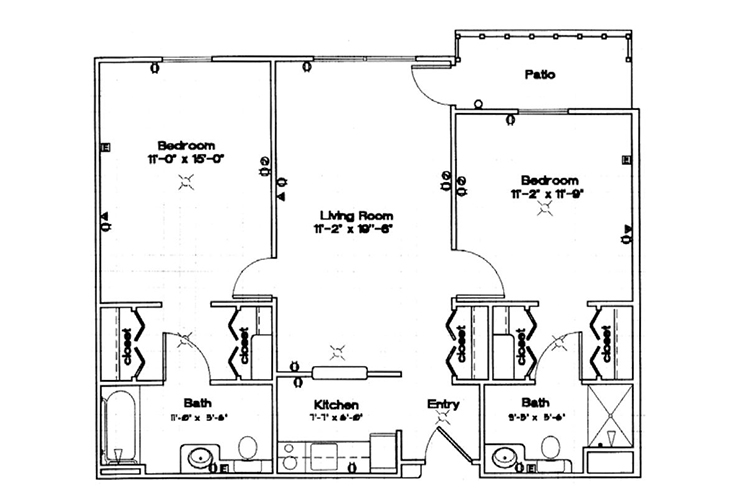 Northwood Manor Independent Living Two Bedroom Floor Plan