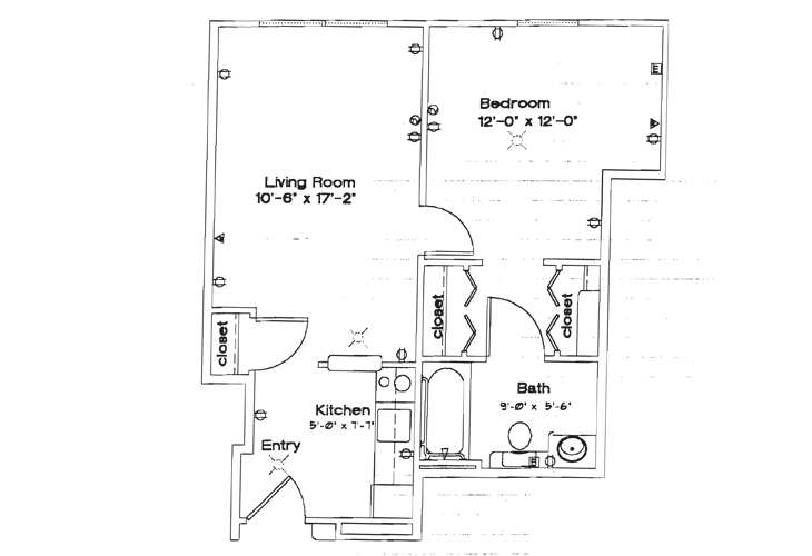 Oak Woods Manor Independent Living One Bedroom H Floor Plan