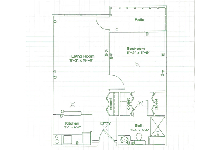 Oak Woods Manor Independent Living One Bedroom J Floor Plan