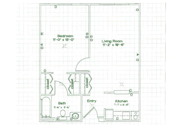 Oak Woods Manor Independent Living One Bedroom L Floor Plan