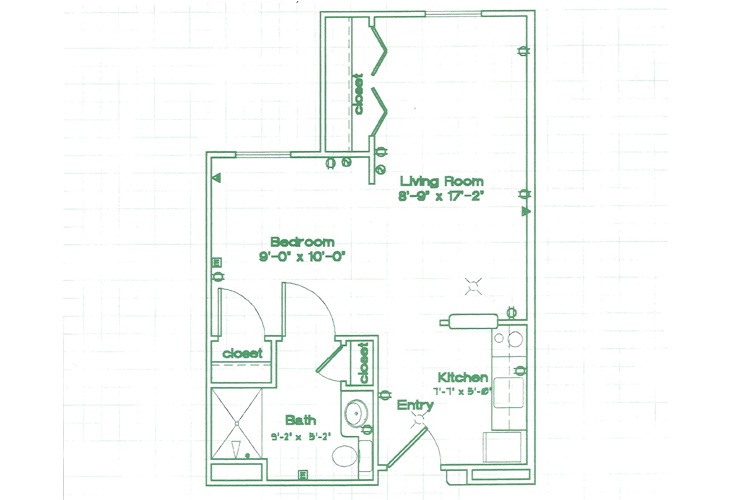 Oak Woods Manor Independent Living Studio A Floor Plan