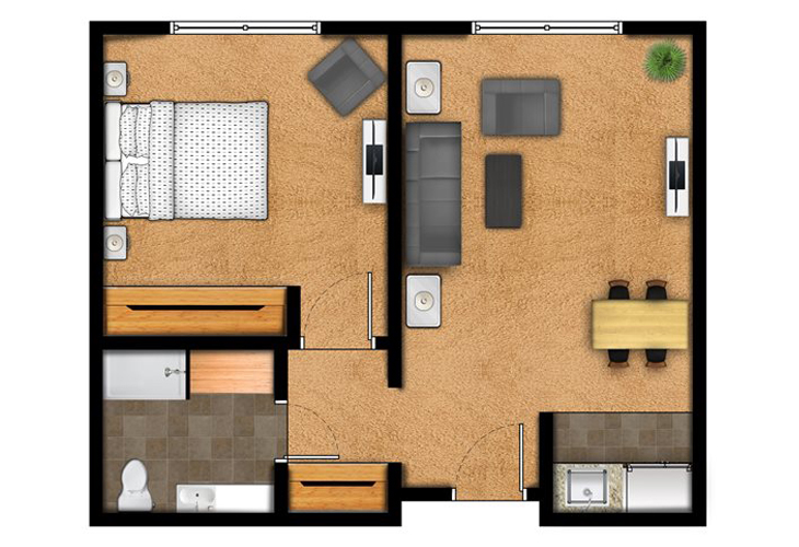 Overland Park Place Independent Living The Lamar Floor Plans