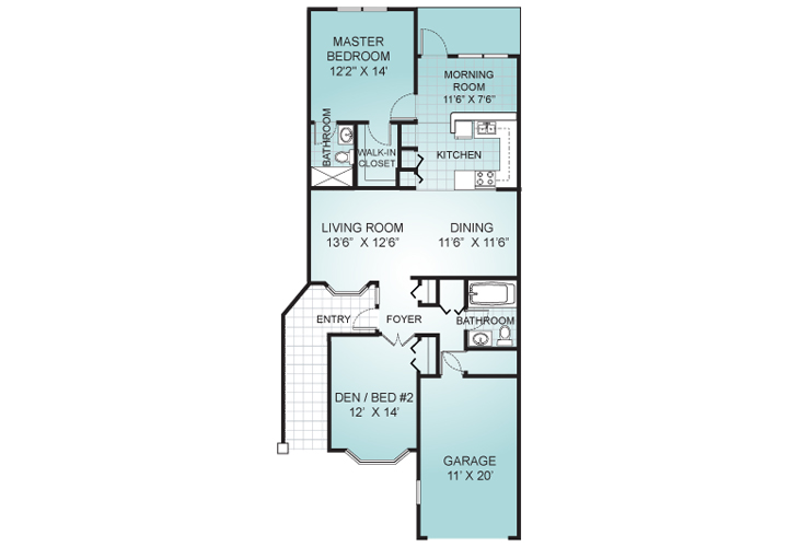 Palms of St. Lucie West Independent Living The Bahama Floor Plan