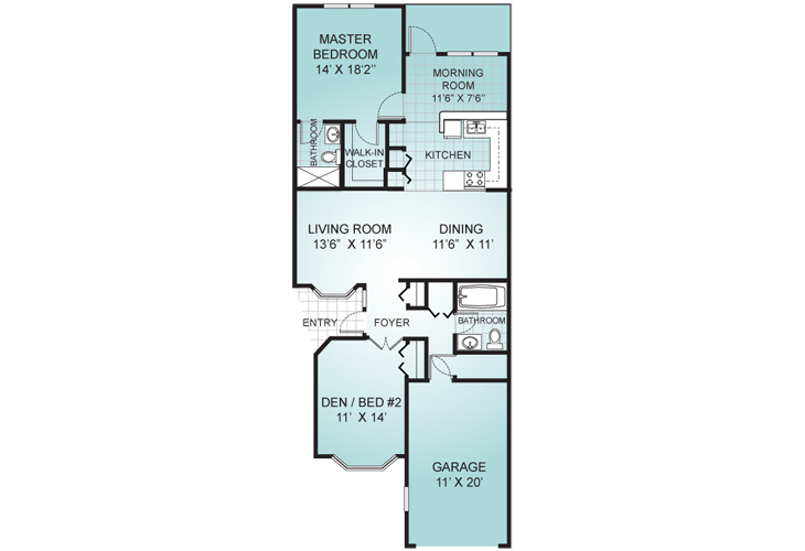 Palms of St. Lucie West Memory Care The Caribbean Floor Plan