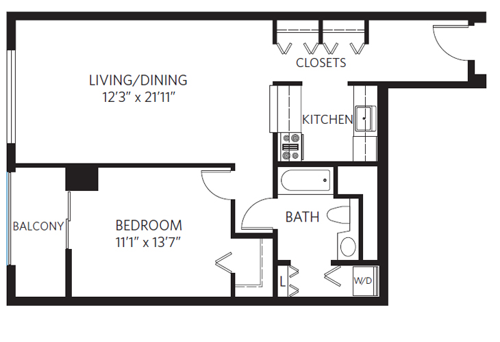 Chevy Chase Independent Living Harrison Floor Plan