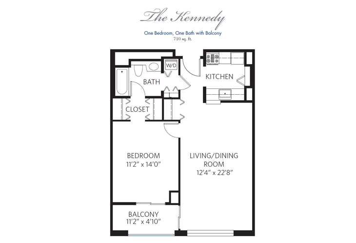 Chevy Chase Independent Living Kennedy Floor Plan