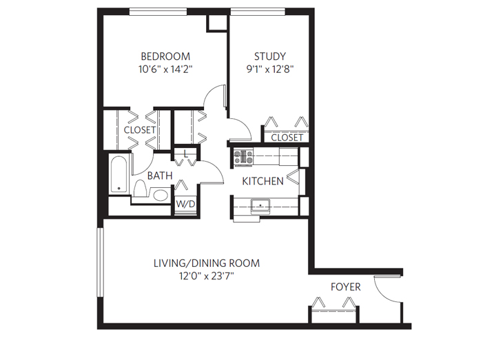 Chevy Chase Independent Living Lincoln Floor Plan