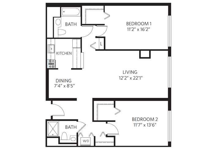 Chevy Chase Independent Living Madison Floor Plan