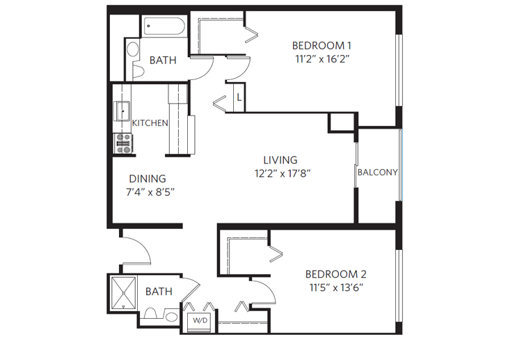 Chevy Chase Independent Living Washington Floor Plan