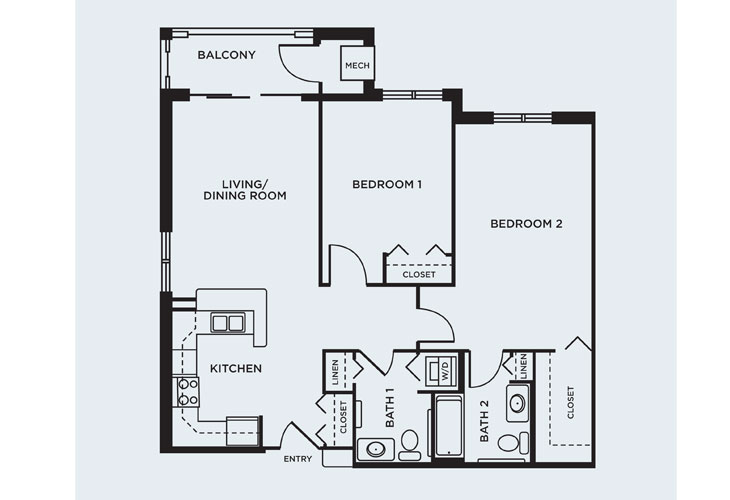 Coventry Village Memory Care Brewer Floor Plan