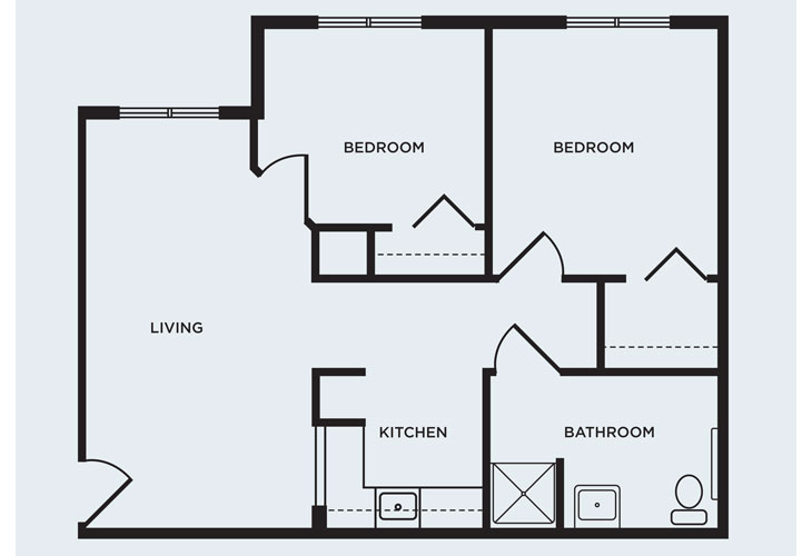 Coventry Village Memory Care Fir Floor Plan