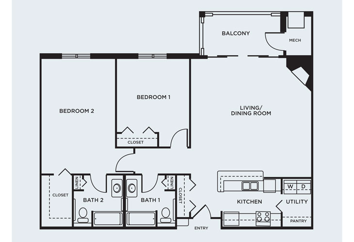 Coventry Village Memory Care Seminary Floor Plan