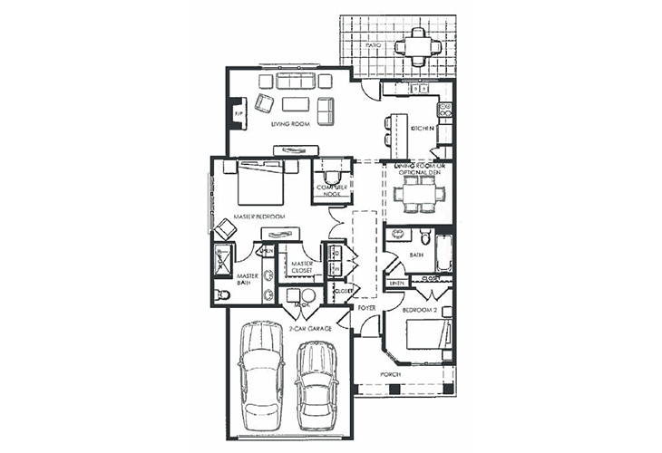 Dayton Place Independent Living Keystone Floor Plan