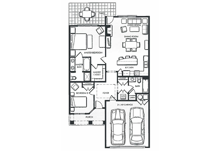 Dayton Place Independent Living Steamboat Floor Plan