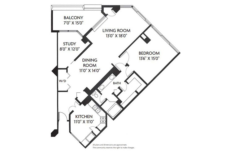 Five Star Premier Residences of Dallas Independent Living Beverly Floor Plan