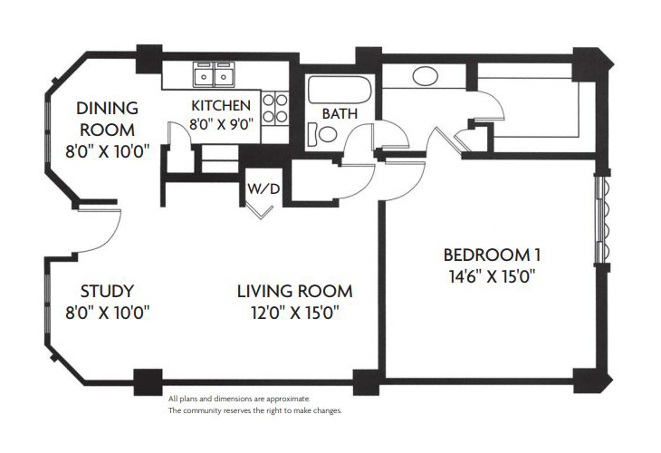Five Star Premier Residences of Dallas Independent Living Devonshire Floor Plan