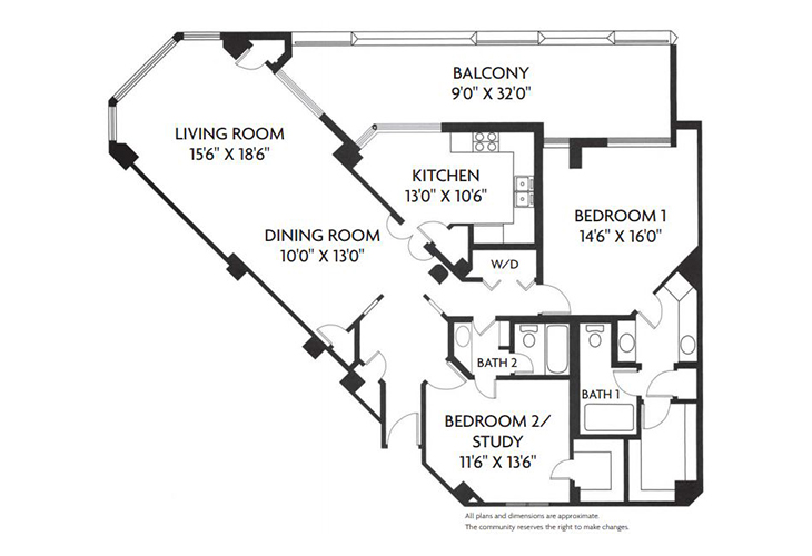 Five Star Premier Residences of Dallas Independent Living Greenway Floor Plan