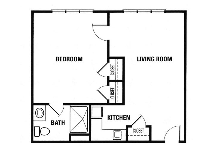 Forest Heights Memory Care 1 Bedroom Suite 1 Floor Plan
