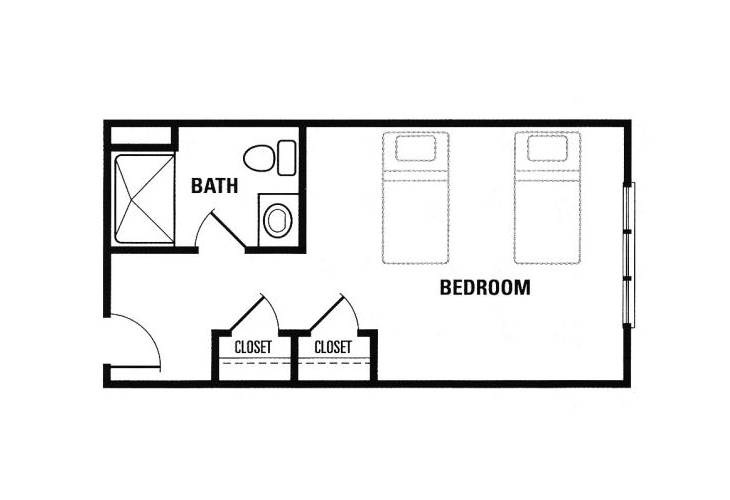 Forest Heights Memory Care Companion Suite Floor Plan