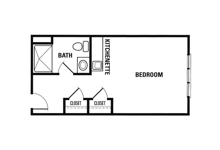 Forest Heights Memory Care Deluxe Private Floor Plan