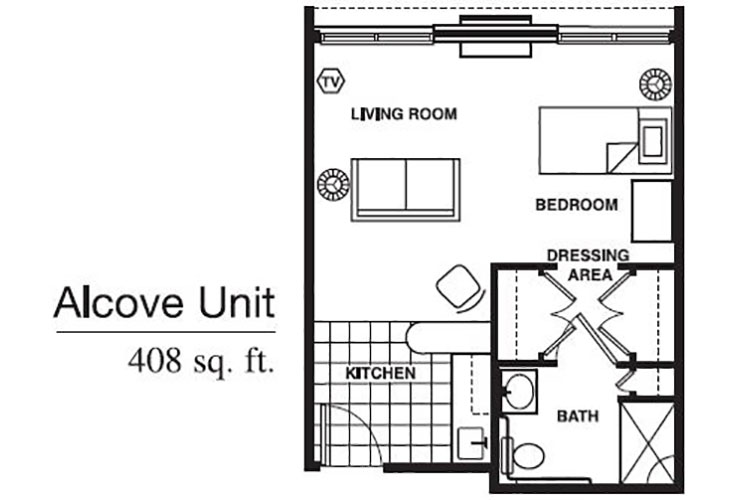 Forum at Brookside Personal Care Alcove Floor Plan
