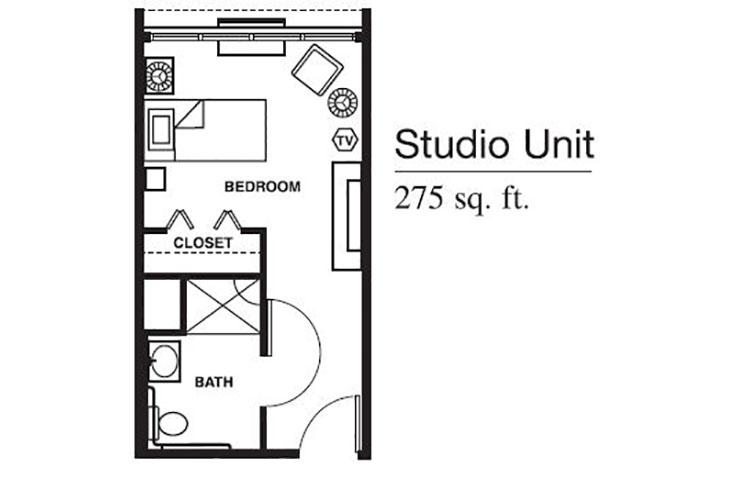 Forum at Brookside Personal Care Studio (1) Floor Plan