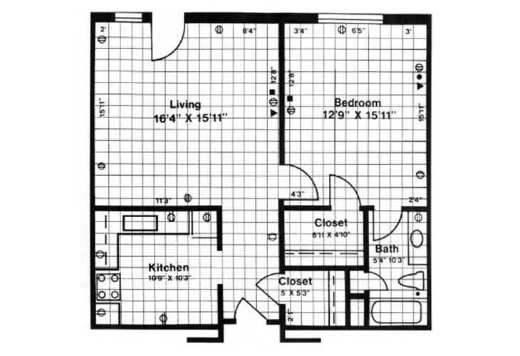 Forwood Manor Independent Living Model A Floor Plan