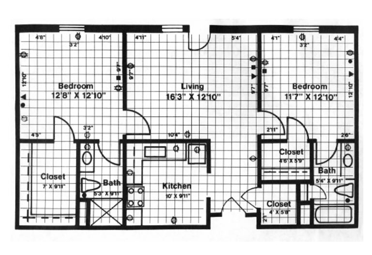 Forwood Manor Assisted Living Model C Floor Plan