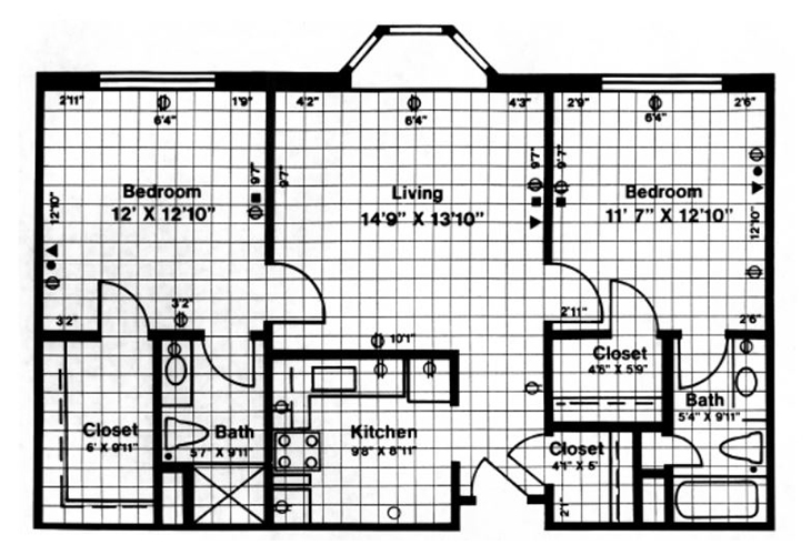 Forwood Manor Assisted Living Model D Floor Plan