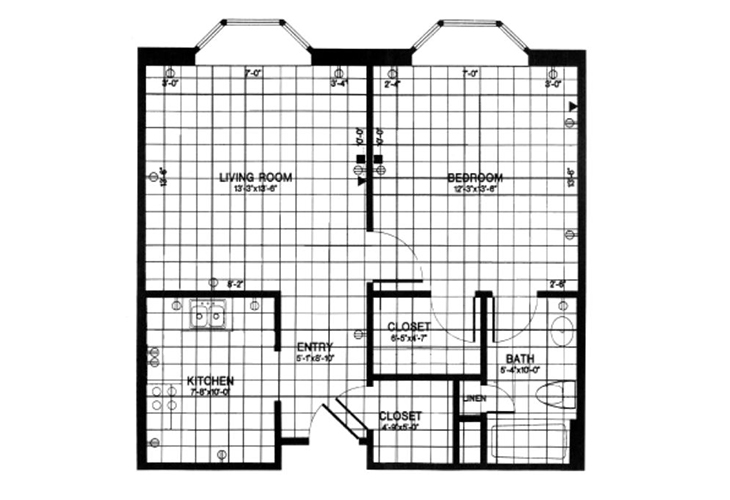 Forwood Manor Assisted Living Model M Floor Plan