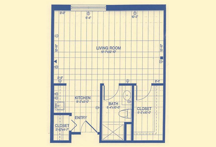 Forwood Manor Independent Living Studio Floor Plan