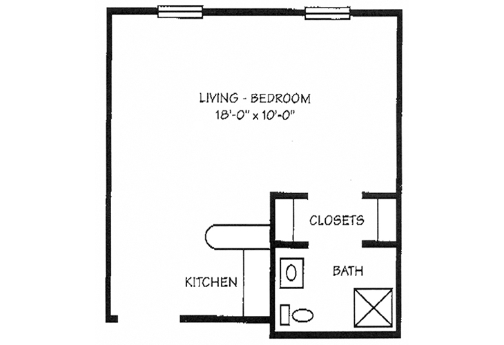 Foulk Manor North Independent Living Alcove Floor Plan