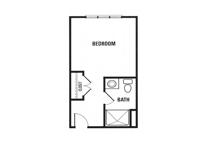 Fox Hollow Memory Care Private Studio Floor Plan