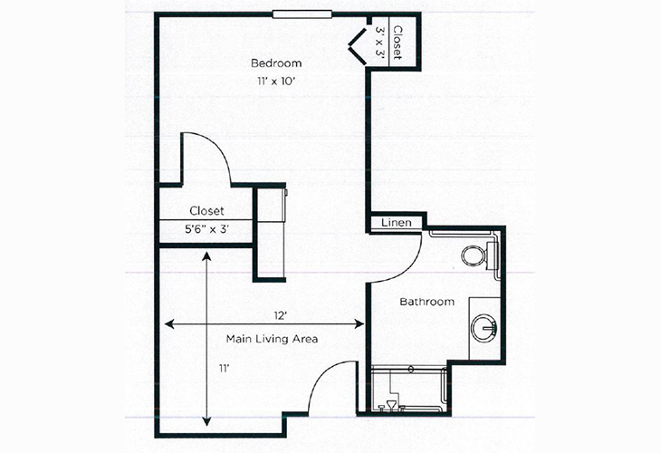 Gardens of Fayetteville Assisted Living Marigold Floor Plan
