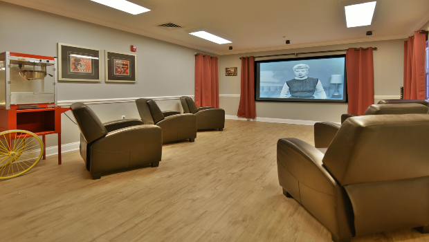 Catch a movie in our private theater
