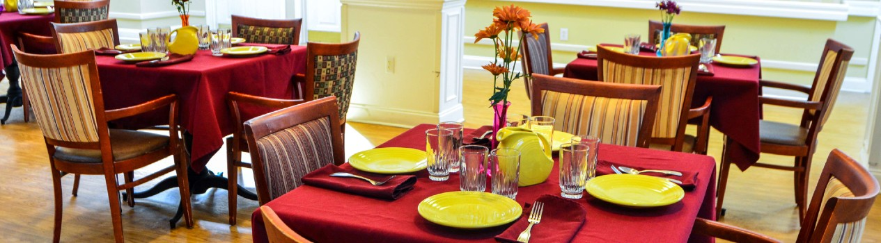 Be our guest at our restaurant-style dining room