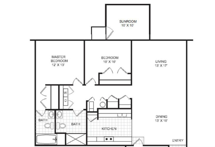 Lafayette Independent Living Albertine Floor Plan
