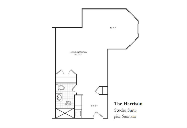 Lafayette Assisted Living Harrison Floor Plan