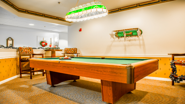 Rack them up in our billiard room