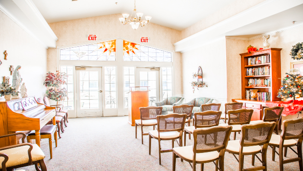 Visit our in-house religious service/on-site Chapel