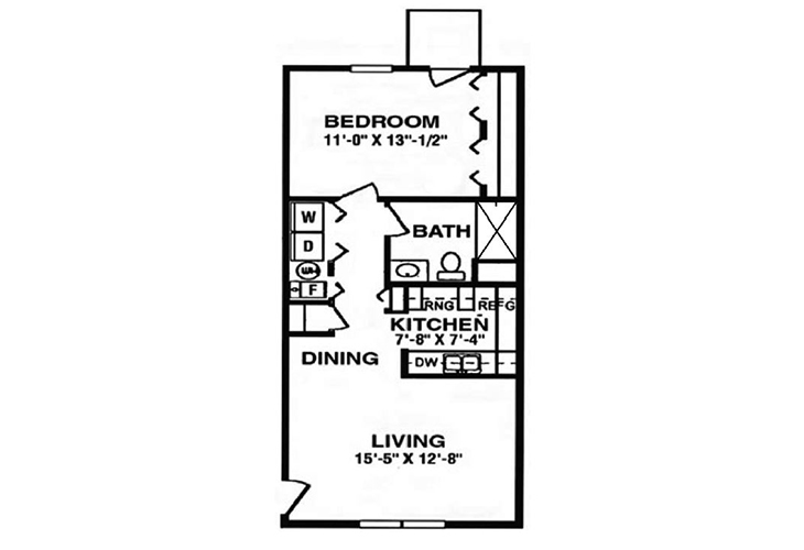 North Woods Assisted Living The Armstrong Floor Plan
