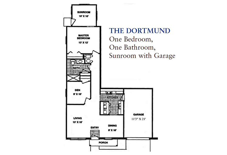 North Woods Independent Living The Dortmund Floor Plan