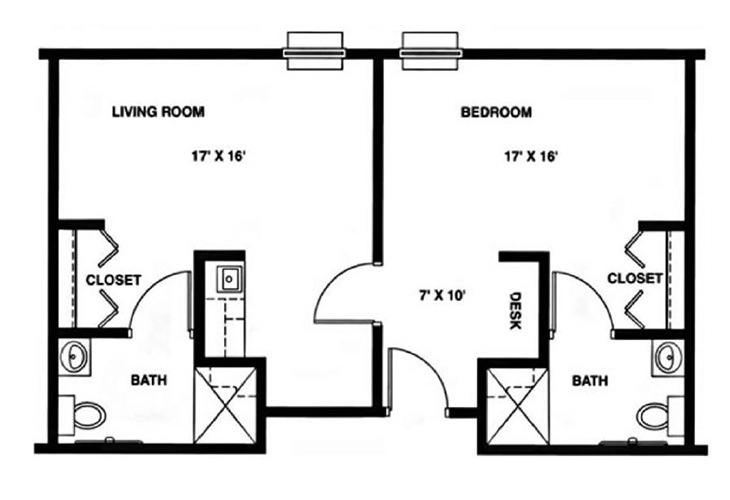 North Woods Assisted Living The Kennedy Floor Plan