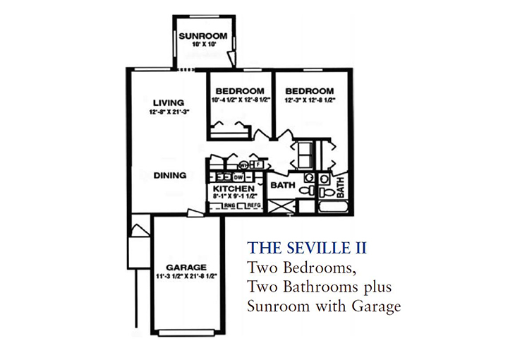 North Woods Independent Living The Seville II Floor Plan