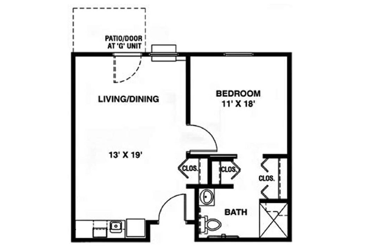 North Woods Independent Living The Cleveland Floor Plan