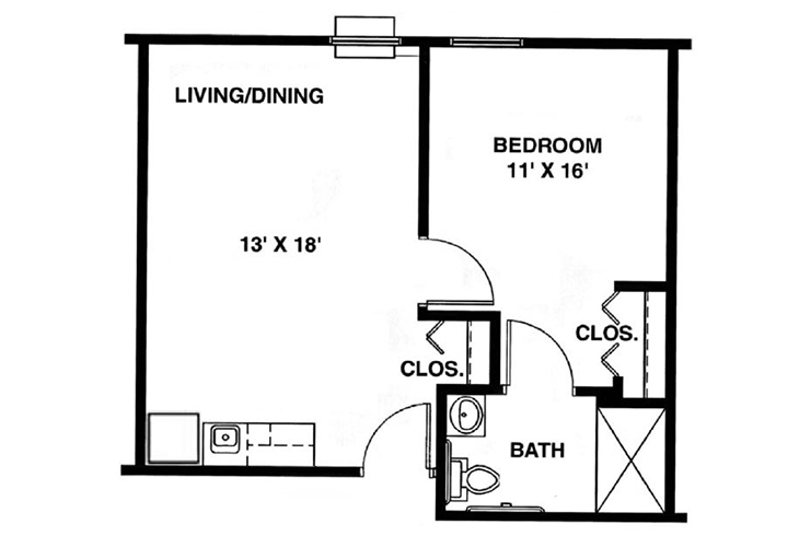 North Woods Assisted Living The Roosevelt Floor Plan