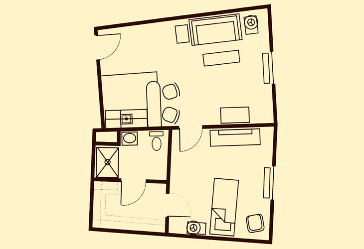 Shipley Manor Independent Living One Bedroom Floor Plan
