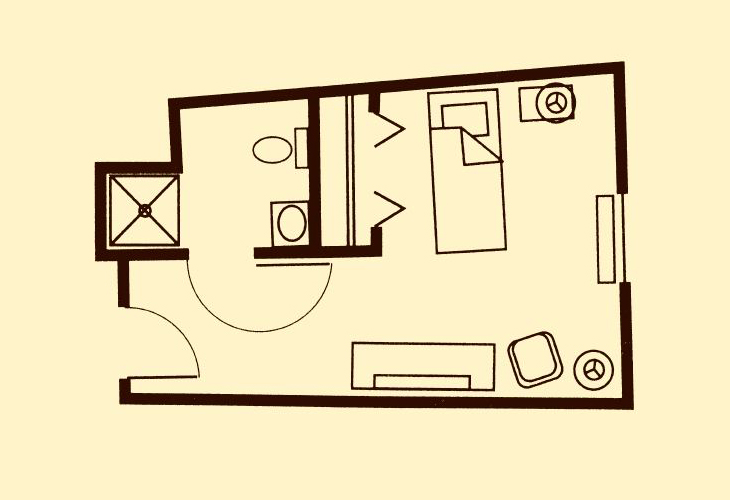 Shipley Manor Independent Living Studio Floor Plan