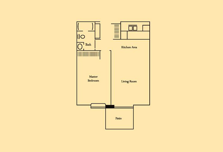 Skyline Ridge Skilled Nursing One Bedroom Floor Plan